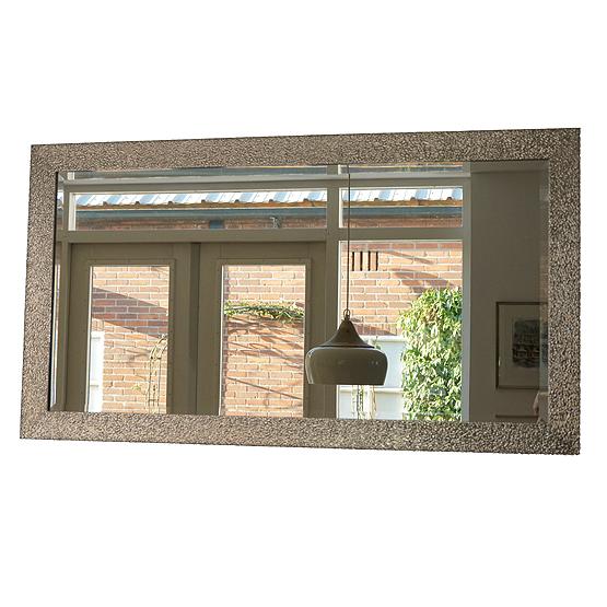 Moderne spiegel doucet zilver usi maison for Moderne spiegel