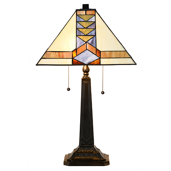 tiffany tafellamp 7855 pyramide