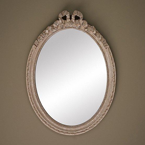 spiegel cosy ovaal beige