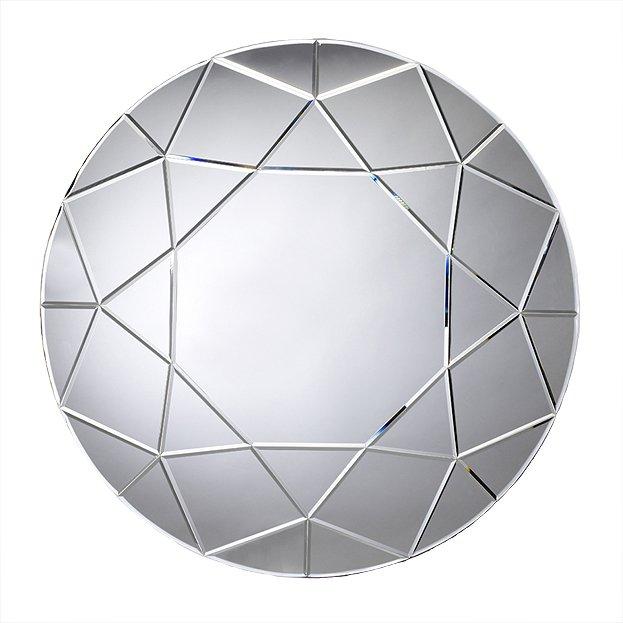 gro er runder spiegel diamond von deknudt mirrors usi maison. Black Bedroom Furniture Sets. Home Design Ideas