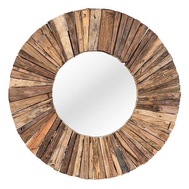 Runde Teak Mosaik Spiegel In 3 Größen