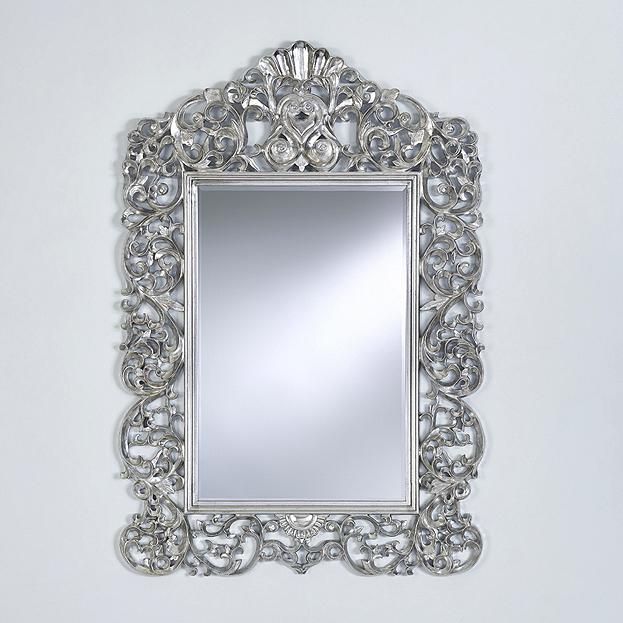 zilveren kuif spiegel Ornato