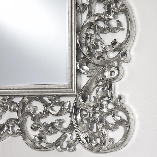 Miroir à crête Ornato Silver
