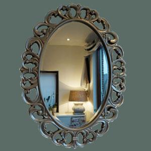 spiegel-ovaal-zilver