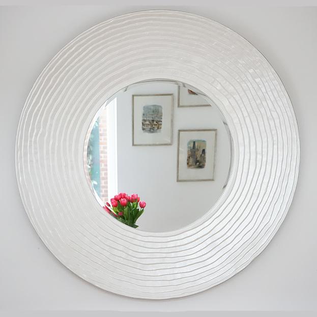Design spiegel Disc Pearl