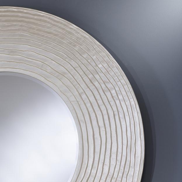 grote ronde spiegel parelmoer