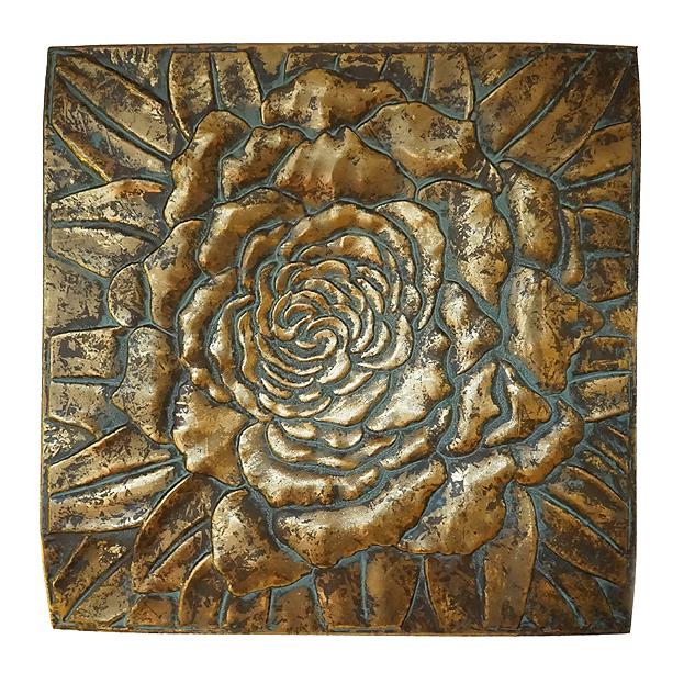 wanddecoratie-gouden-roos-koper