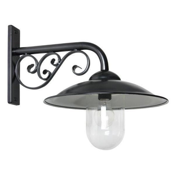 Zwarte klassieke stationslamp
