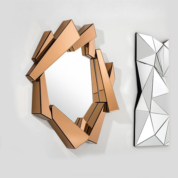 Spiegel design met spiegellijst
