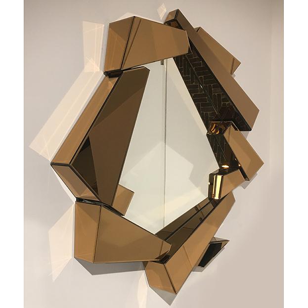 design spiegel Cellino met gouden lijst
