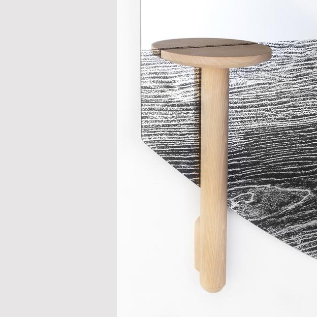 Faux Table Natural voor Design Faux Spiegel