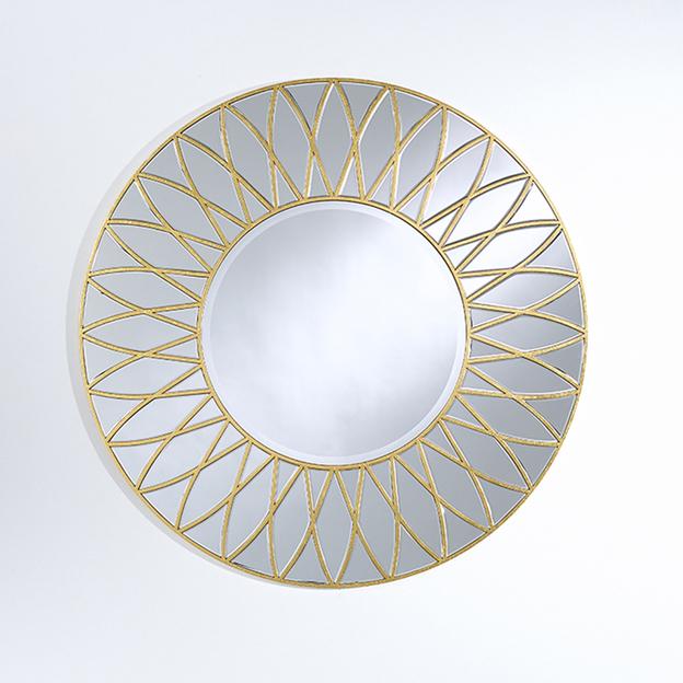 dahlia gold rund spiegel deknudt spiegel usi maison. Black Bedroom Furniture Sets. Home Design Ideas