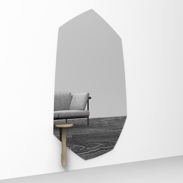 Faux Wood Deknudt Spiegel