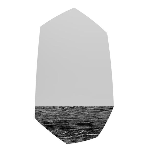 Faux Wood Spiegel Optische Illusie