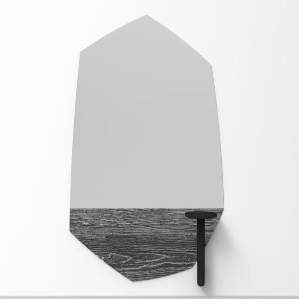 Faux Wood Spiegel met Hout