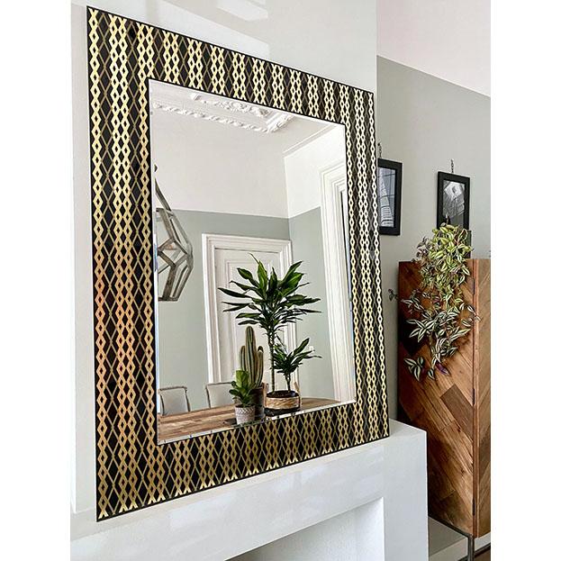 Zafira moderne spiegel met bladgoud