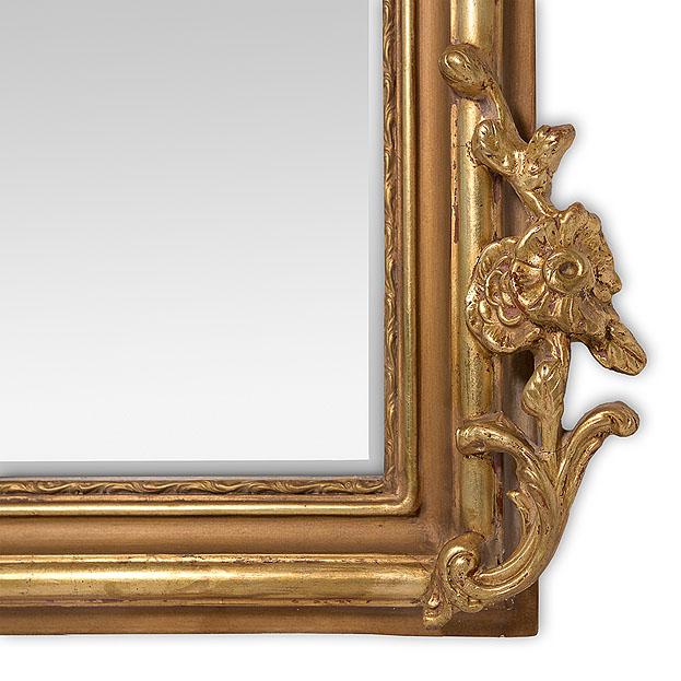 Detail voet spiegel Louvre