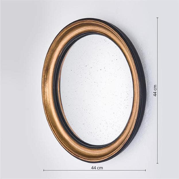 Convex Gold Gouden Ronde Spiegel Middel