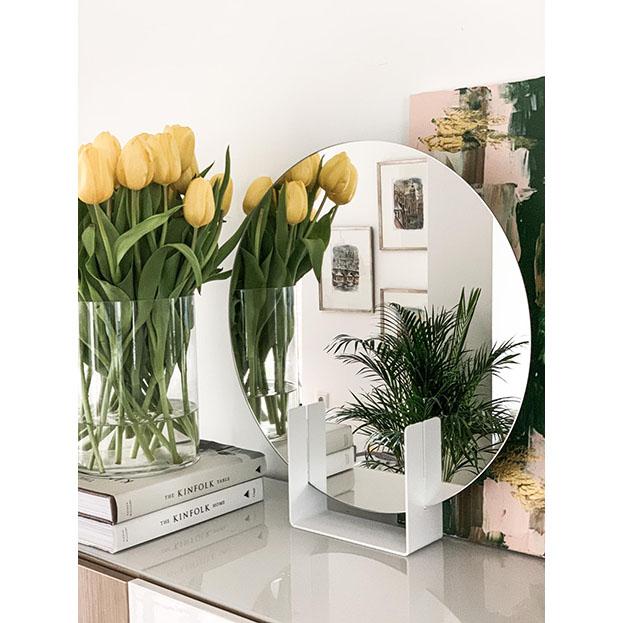 Staal design spiegel Look Round